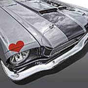 Love At First Sight - '66 Mustang Art Print