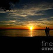 Love At Sunset Art Print