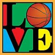 Love Basketball Art Print