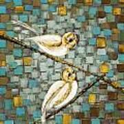 Love Birds- Warm Tone Art Print