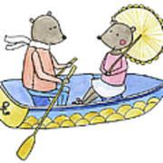 Love Boat Watercolor Illustration Art Print