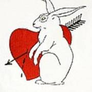 Love Bunny Art Print