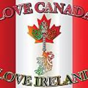 Love Canada Love Ireland16in Art Print