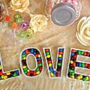 Love Candies Art Print by Lars Ruecker