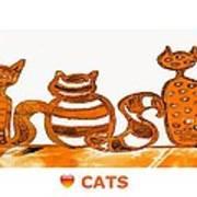 Love Cats 2 Art Print