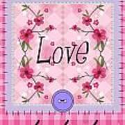 Love Cherry Blossom Art Print