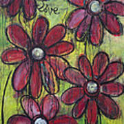 Love For Five Daisies Art Print