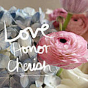 Love Honor Cherish Art Print