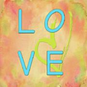 Love In Bright Blue Art Print
