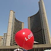 love in Toronto City Hall Art Print
