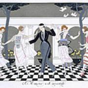 Love Is Blind Art Print by Georges Barbier