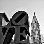 Love Is Just Black And White Art Print