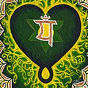 Love Is Spiritual Heart Chakra Art Print