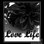 Love Life Black And White Art Print