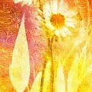 Love Me Tender Gold Art Print
