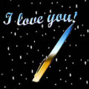 Love Message Digital Painting Art Print