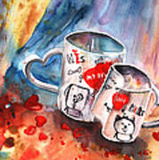 Love Mugs Art Print