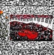 Love Music Memories Original Acrylic Painting  Art Print