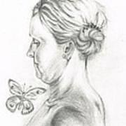 Loves- Her Butterflies Art Print