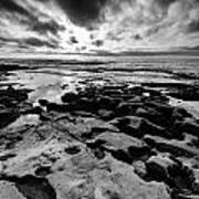 Love On The Rocks Bw Art Print