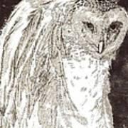 Love Owl Art Print