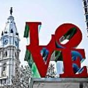 Love Park And City Hall Art Print