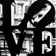Love Philadelphia Black And White  Art Print
