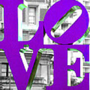 Love Philadelphia Purple Art Print