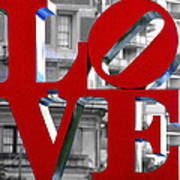 Love Philadelphia Red Art Print