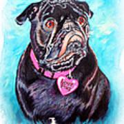 Love Pug Art Print