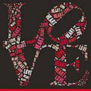 Love Quatro Heart - S111b Art Print