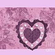 Love Series Collage - Heart 2 Art Print