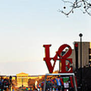 Love Statue And The Art Museum Art Print