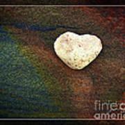 Love Stone - Framed Art Print