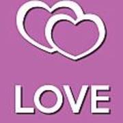 Love Violet Art Print