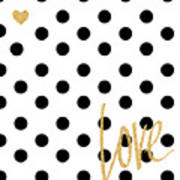 Love With Dots Art Print