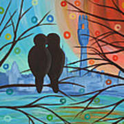 Lovebirds In P-town Art Print