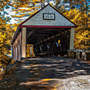 Lovejoy Covered Bridge Art Print by Bob Orsillo