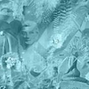 Lovely Mayhem - Ice Blu Art Print
