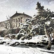 Lovely Snow On The Museum Art Print