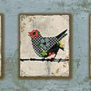 Lovely Song Bird Trio -1 Art Print