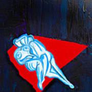 Lovers In Bluebells Art Print