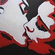 Lovers - Kiss 8 Art Print