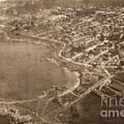 Aerial Of Lovers Point And Pacific Grove California July 10 1906 Art Print