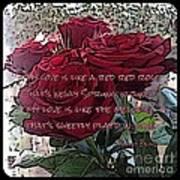 Lover's Roses Art Print
