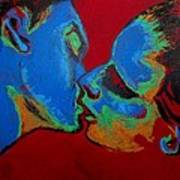 Lovers - Tender Kiss Art Print