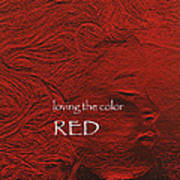 Loving The Color Red Group Avatar Art Print
