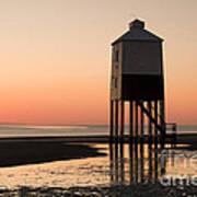 Low Lighthouse Sunset Art Print