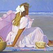 Low Tide Lady Art Print