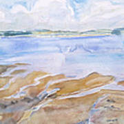 Low Tide - Penobscot Bay Art Print by Grace Keown